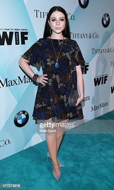 Actress Michelle Trachtenberg attends the Women In Film 2015 Crystal Lucy Awards Presented by Max Mara BMW of North America and Tiffany Co at the...