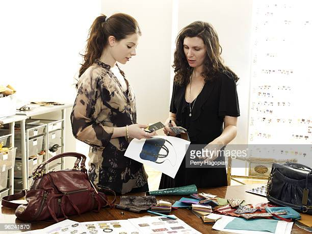Actress Michelle Trachtenberg is photographed with handbag Designer Monica Botkier for Marie Claire Magazine on July 2 2009 in New York City