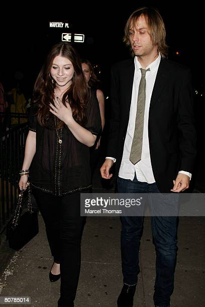 Actress Michelle Trachtenberg visits the Ye Waverly Inn resturant on April 19 2008 in New York City New York