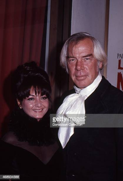 Actress Michelle Triola Marvin and actor Lee Marvin attend an event in October 1969 in Los Angeles California She would later sue him for palimony