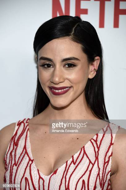 Actress Michelle Veintimilla arrives at Netflix's 'Seven Seconds' Premiere at The Paley Center for Media on February 23 2018 in Beverly Hills...