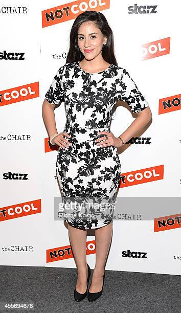 Actress Michelle Veintimilla attends the Los Angeles Premiere of Not Cool at Landmark Theatre on September 18 2014 in Los Angeles California