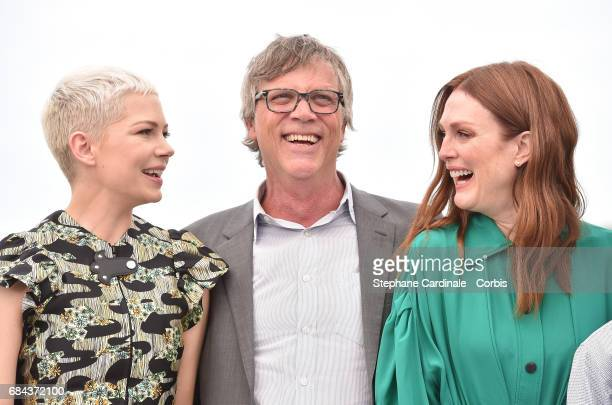 Actress Michelle William director Todd Haynes and actress Julianne Moore attend 'Wonderstruck' Photocall during the 70th annual Cannes Film Festival...