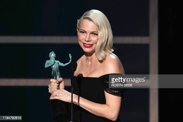 Actress Michelle Williams accepts the award for Outstanding Performance by a Female Actor in a Television Movie or Miniseries during the 26th Annual...