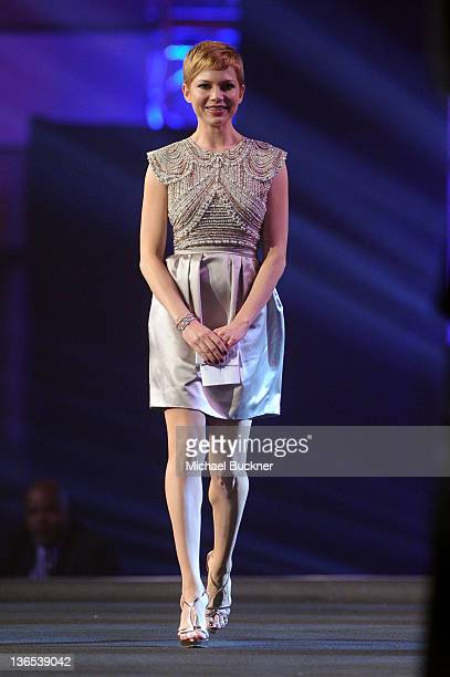 Actress Michelle Williams accepts the Desert Palm Achievement Award onstage during The 23rd Annual Palm Springs International Film Festival Awards...