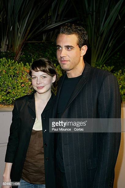 Actress Michelle Williams and actor Bobby Cannavale arrive at the Miramax PreOscar 2004 Max Awards party at the StRegis Hotel