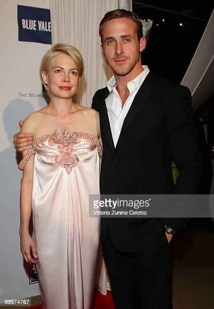 Actress Michelle Williams and actor Ryan Gosling attend Belstaff Hosts 'Blue Valentine' AfterParty at Palais Stephanie during the 63rd Annual Cannes...