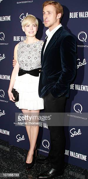 Actress Michelle Williams and actor Ryan Gosling attend the premiere of 'Blue Valentine' at The Museum of Modern Art on December 7 2010 in New York...