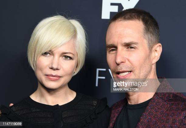 US actress Michelle Williams and actor Sam Rockwell arrive for the FYC red carpet event of Fox21 TV Studios FX's Fosse/Verdon at the Samuel Goldwyn...