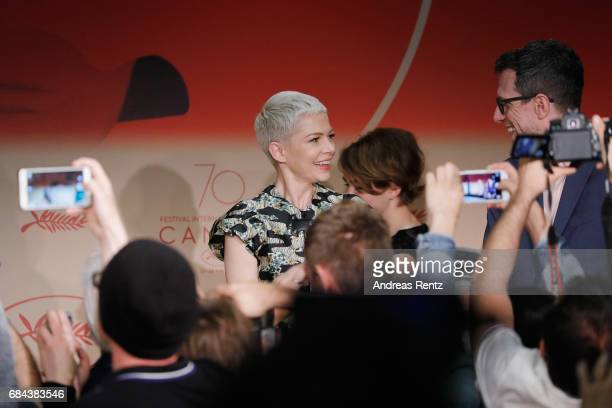 Actress Michelle Williams and Director Tood Haynes arrive at Wonderstruck Press Conference during the 70th annual Cannes Film Festival at Palais des...