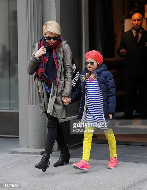 Actress Michelle Williams and her daughter Matilda Ledger as seen on March 6 2013 in New York City