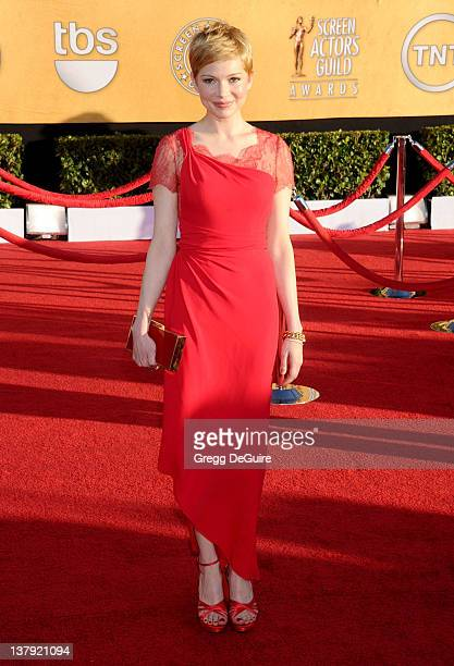 Actress Michelle Williams arrives at 18th Annual Screen Actors Guild Awards at The Shrine Auditorium on January 29 2012 in Los Angeles California