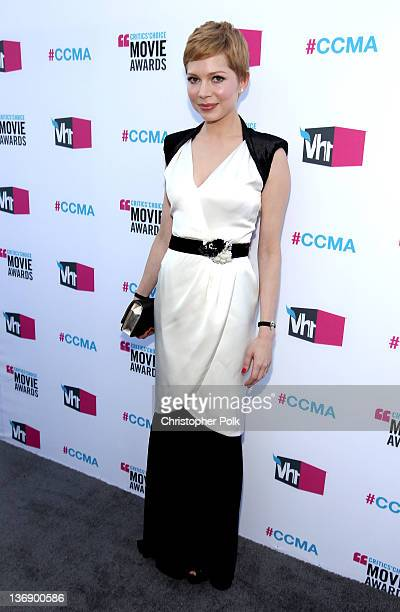 Actress Michelle Williams arrives at the 17th Annual Critics' Choice Movie Awards held at The Hollywood Palladium on January 12 2012 in Los Angeles...