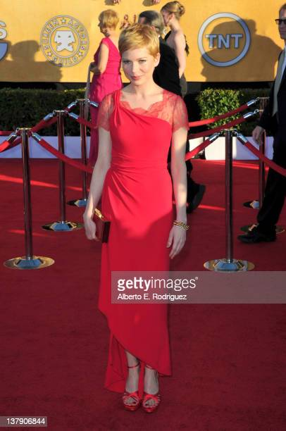 Actress Michelle Williams arrives at the 18th Annual Screen Actors Guild Awards at The Shrine Auditorium on January 29 2012 in Los Angeles California