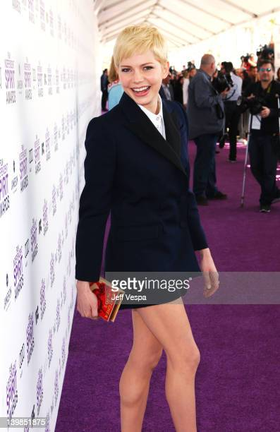 Actress Michelle Williams arrives at the 2012 Film Independent Spirit Awards at Santa Monica Pier on February 25 2012 in Santa Monica California