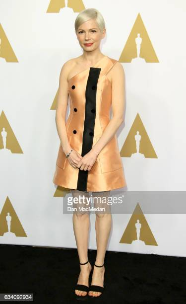 Actress Michelle Williams arrives at the 89th Annual Academy Awards Nominee Luncheon at The Beverly Hilton Hotel on February 6 2017 in Beverly Hills...