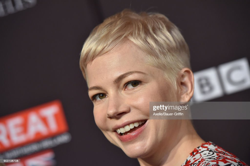 Actress Michelle Williams arrives at The BAFTA Los Angeles Tea Party at Four Seasons Hotel Los Angeles at Beverly Hills on January 6, 2018 in Los Angeles, California.