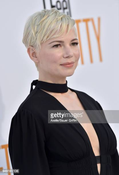 Actress Michelle Williams arrives at the premiere of STX Films' 'I Feel Pretty' at Westwood Village Theatre on April 17 2018 in Westwood California