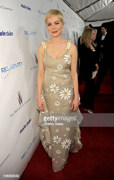 Actress Michelle Williams arrives at The Weinstein Company and Relativity Media's 2011 Golden Globe After Party presented by Marie Claire held at The...