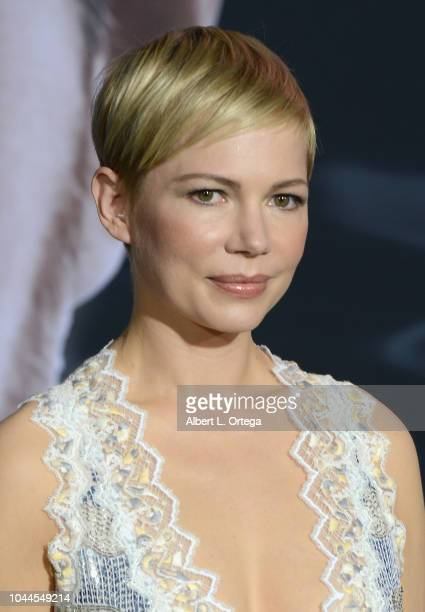 Actress Michelle Williams arrives for Premiere Of Columbia Pictures' Venom held at Regency Village Theatre on October 1 2018 in Westwood California