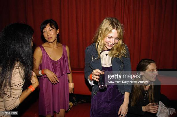 Actress Michelle Williams attends a Fashion Week party hosted by LA boutique Satine at Marquee nightclub on 10th Ave