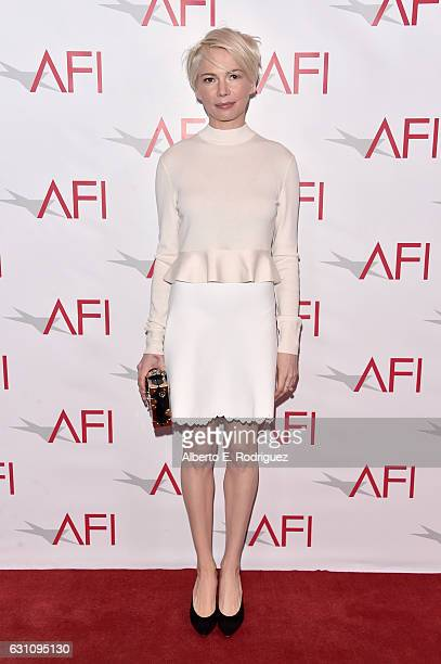 Actress Michelle Williams attends the 17th annual AFI Awards at Four Seasons Los Angeles at Beverly Hills on January 6 2017 in Los Angeles California