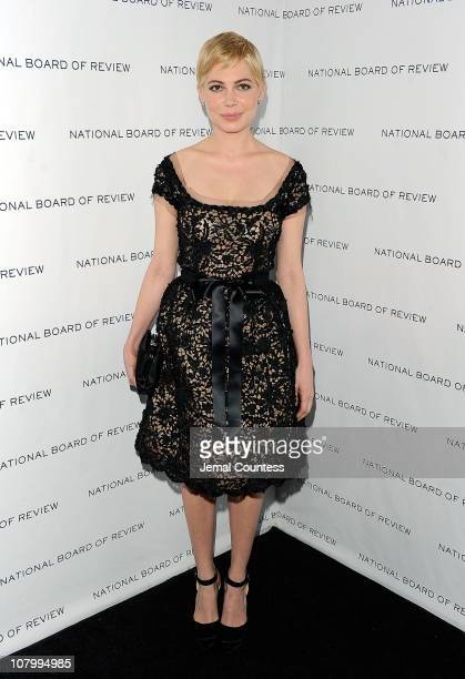 Actress Michelle Williams attends the 2011 National Board of Review of Motion Pictures Gala at Cipriani 42nd Street on January 11 2011 in New York...