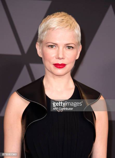 Actress Michelle Williams attends the 2017 Governors Awards on November 11 in Hollywood California / AFP PHOTO / VALERIE MACON