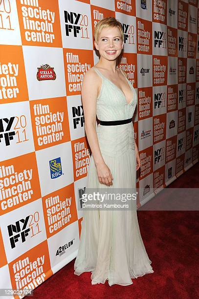 Actress Michelle Williams attends the 49th Annual New York Film Festival premiere of The Weinstein Company's My Week With Marilyn at Alice Tully Hall...