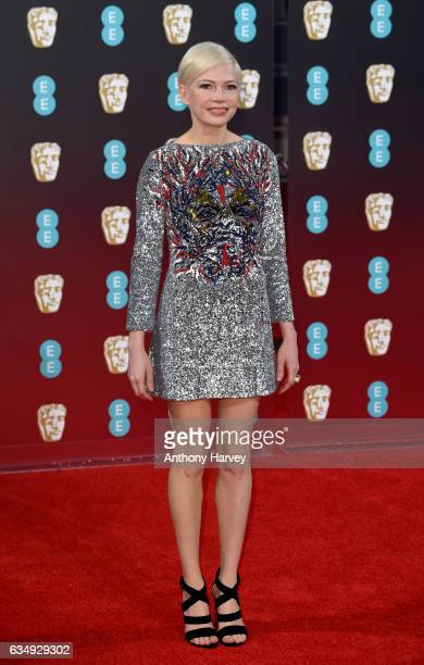 Actress Michelle Williams attends the 70th EE British Academy Film Awards at Royal Albert Hall on February 12 2017 in London England