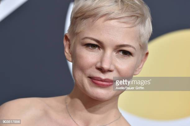 Actress Michelle Williams attends the 75th Annual Golden Globe Awards at The Beverly Hilton Hotel on January 7 2018 in Beverly Hills California