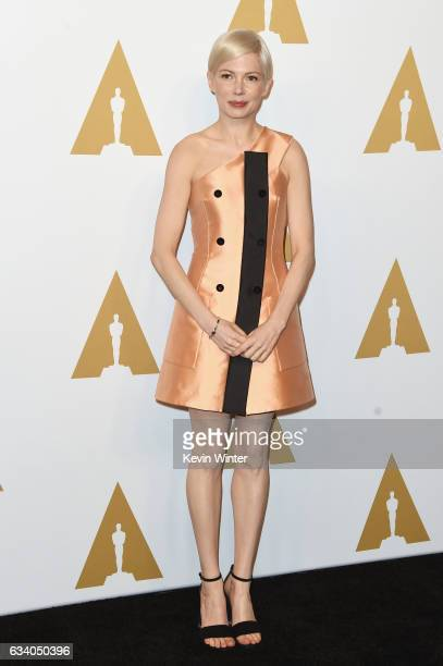 Actress Michelle Williams attends the 89th Annual Academy Awards Nominee Luncheon at The Beverly Hilton Hotel on February 6 2017 in Beverly Hills...