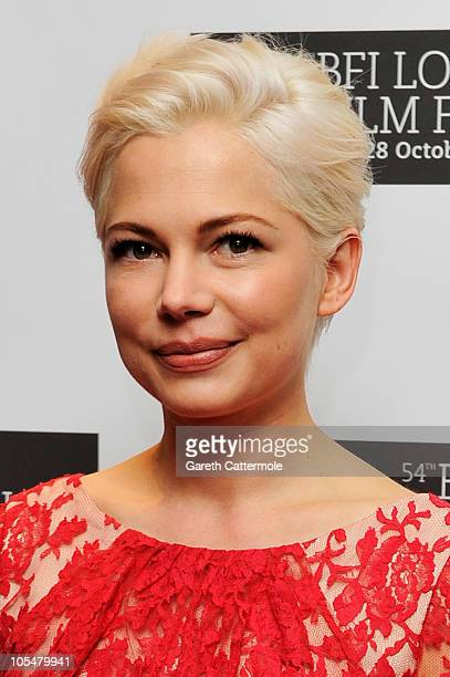 Actress Michelle Williams attends the 'Blue Valentine' premiere during the 54th BFI London Film Festival at the Vue West End on October 15 2010 in...