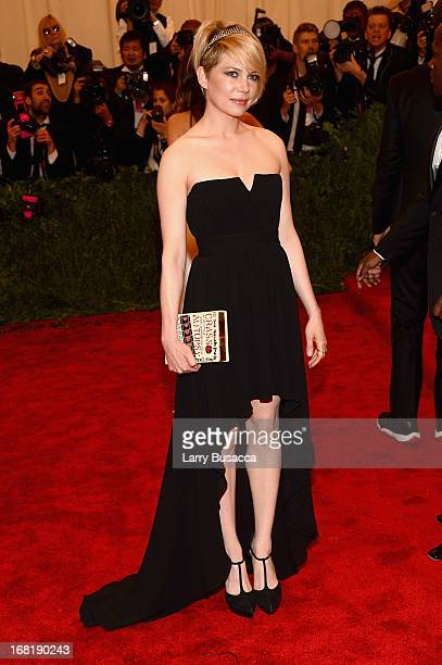 Actress Michelle Williams attends the Costume Institute Gala for the 'PUNK Chaos to Couture' exhibition at the Metropolitan Museum of Art on May 6...