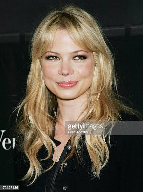Actress Michelle Williams attends the Donna Karan Gold fragrance collection launch at the Donna Karan Flagship store October 12 2006 in New York City