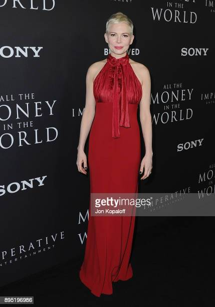 Actress Michelle Williams attends the Los Angeles Premiere 'All The Money In The World' at Samuel Goldwyn Theater on December 18 2017 in Beverly...