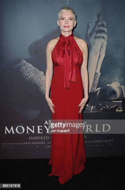 Actress Michelle Williams attends the Los Angeles Premiere All The Money In The World at Samuel Goldwyn Theater on December 18 2017 in Beverly Hills...