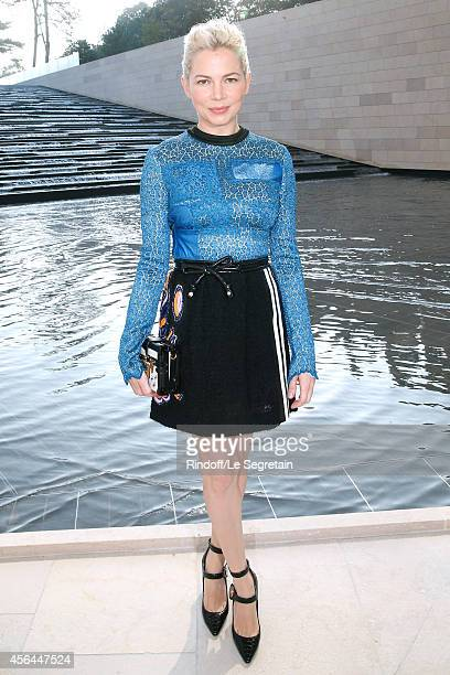 Actress Michelle Williams attends the Louis Vuitton show as part of the Paris Fashion Week Womenswear Spring/Summer 2015 on October 1 2014 in Paris...