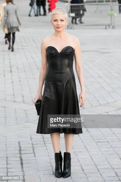 Actress Michelle Williams attends the Louis Vuitton show as part of the Paris Fashion Week Womenswear Fall/Winter 2017/2018 on March 7 2017 in Paris...