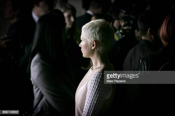 Actress Michelle Williams attends the 'Louis Vuitton Vendome' flagship store opening on October 2 2017 in Paris France