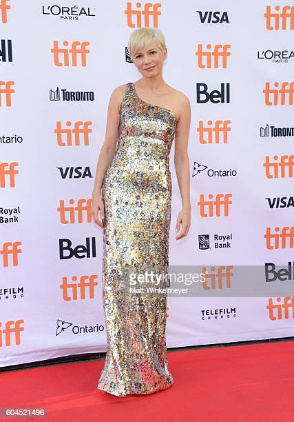 Actress Michelle Williams attends the 'Manchester by the Sea' premiere during the 2016 Toronto International Film Festival at Princess of Wales...