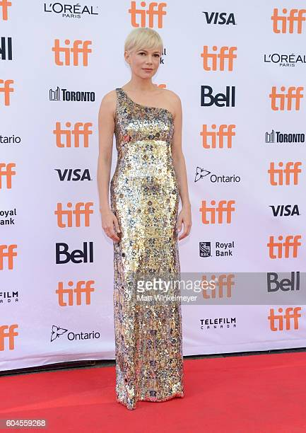 Actress Michelle Williams attends the Manchester by the Sea premiere during the 2016 Toronto International Film Festivalat at Princess of Wales...