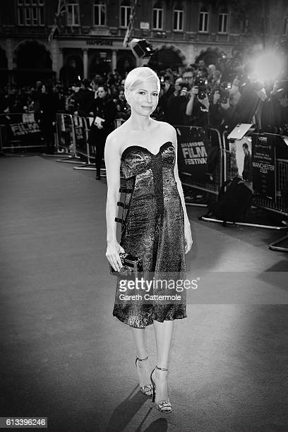 Actress Michelle Williams attends the 'Manchester By The Sea' International Premiere screening during the 60th BFI London Film Festival at Odeon...