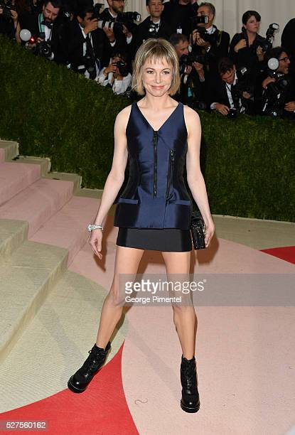 Actress Michelle Williams attends the 'Manus x Machina Fashion in an Age of Technology' Costume Institute Gala at the Metropolitan Museum of Art on...