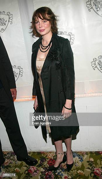 Actress Michelle Williams attends the National Board of Review Annual Awards Gala January 13 2004 in New York City