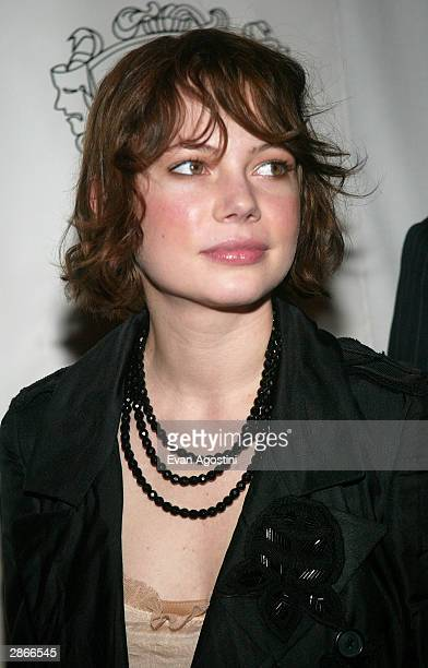 Actress Michelle Williams attends the National Board Of Review Of Motion Pictures 2003 Annual Awards Gala at Tavern on the Green January 13 2004 in...