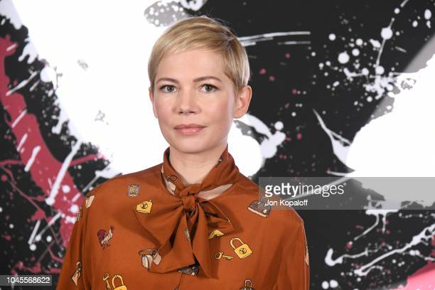 Actress Michelle Williams attends the photo call for Columbia Pictures' Venom at Four Seasons Hotel Los Angeles at Beverly Hills on September 27 2018...