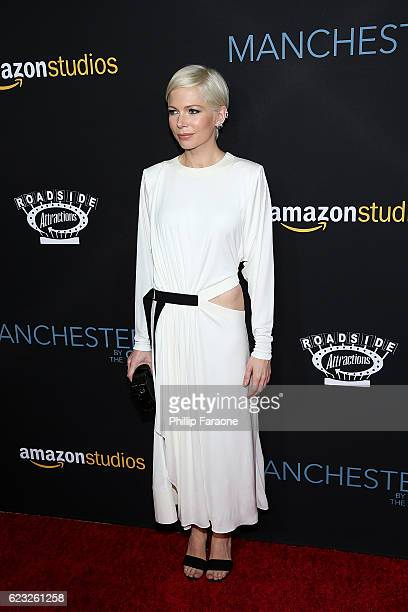 Actress Michelle Williams attends the premiere of Amazon Studios' 'Manchester By The Sea' at Samuel Goldwyn Theater on November 14 2016 in Beverly...