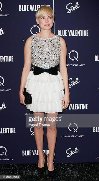Actress Michelle Williams attends the premiere of 'Blue Valentine' at The Museum of Modern Art on December 7 2010 in New York City