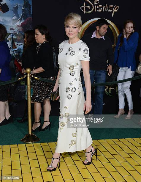Actress Michelle Williams attends the premiere Of Walt Disney Pictures' Oz The Great And Powerful at the El Capitan Theatre on February 13 2013 in...